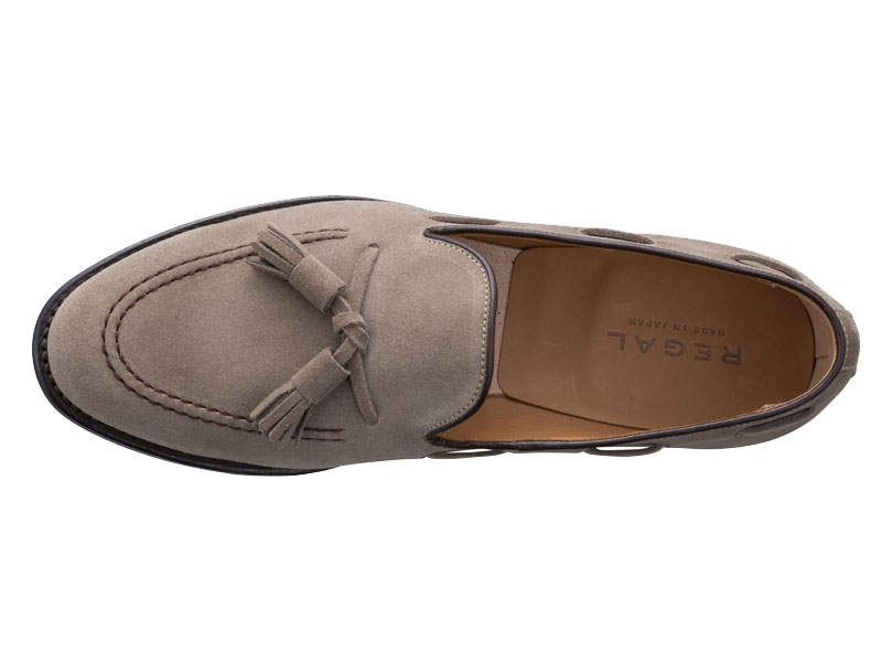 Regal Tassel Loafer 12VR BF: Beige Suede