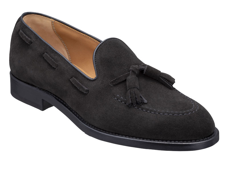 Regal Tassel Loafer 12VR BF: Black Suede